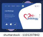 quality one page cardiology...   Shutterstock .eps vector #1101207842