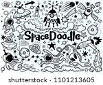 hand drawn space elements... | Shutterstock .eps vector #1101213605