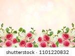 eucalyptus leaves  freesia and...   Shutterstock . vector #1101220832