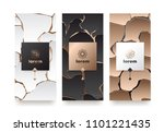 vector set packaging templates... | Shutterstock .eps vector #1101221435