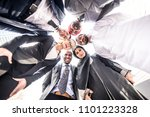multicultural business people... | Shutterstock . vector #1101223328