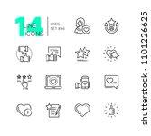 likes   set of line design... | Shutterstock .eps vector #1101226625