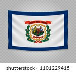 realistic hanging flag of west... | Shutterstock .eps vector #1101229415