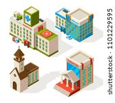 isometric pictures of municipal ... | Shutterstock .eps vector #1101229595
