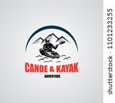 canoe or kayaking logo designs... | Shutterstock .eps vector #1101233255