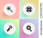 modern  simple vector icon set... | Shutterstock .eps vector #1101233795
