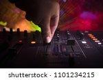 in selective focus of pro dj... | Shutterstock . vector #1101234215