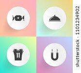 modern  simple vector icon set... | Shutterstock .eps vector #1101234902
