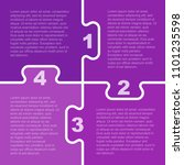 four purple pieces puzzle... | Shutterstock .eps vector #1101235598