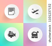modern  simple vector icon set... | Shutterstock .eps vector #1101237152