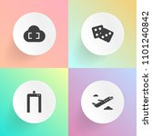 modern  simple vector icon set... | Shutterstock .eps vector #1101240842