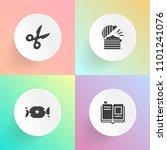 modern  simple vector icon set... | Shutterstock .eps vector #1101241076