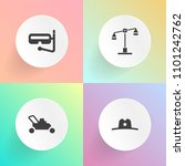 modern  simple vector icon set... | Shutterstock .eps vector #1101242762