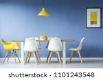 minimal  modern dining room in... | Shutterstock . vector #1101243548