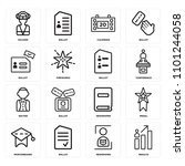 set of 16 icons such as results ...