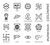 set of 16 icons such as... | Shutterstock .eps vector #1101246965