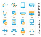 set of 16 icons such as...   Shutterstock .eps vector #1101247115
