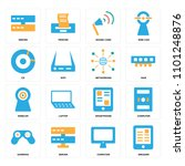 set of 16 icons such as ereader ...