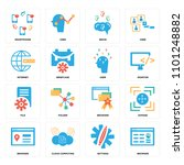 set of 16 icons such as browser ... | Shutterstock .eps vector #1101248882