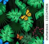 exotic tropical nature... | Shutterstock .eps vector #1101249836