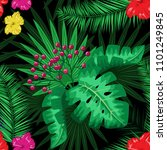 exotic tropical nature... | Shutterstock .eps vector #1101249845