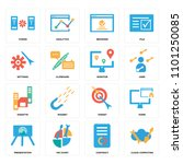set of 16 icons such as cloud... | Shutterstock .eps vector #1101250085