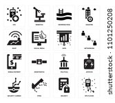 set of 16 icons such as mp4...