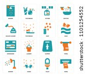 set of 16 icons such as wipes ...