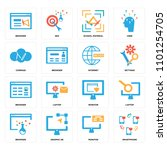 set of 16 icons such as... | Shutterstock . vector #1101254705