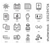 set of 16 icons such as auction ...