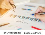 two businessman investment... | Shutterstock . vector #1101263408