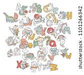 english alphabet. abc. letter... | Shutterstock .eps vector #1101266342