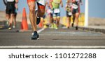 marathon running race  runners... | Shutterstock . vector #1101272288