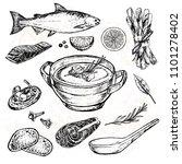 hand drawn sketch illustration... | Shutterstock . vector #1101278402