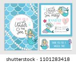 under the sea party invitation... | Shutterstock .eps vector #1101283418