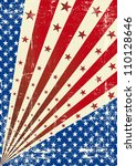 us torn poster a tricolor... | Shutterstock .eps vector #110128646
