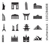 landmarks of the world icons.... | Shutterstock .eps vector #1101286808
