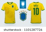 soccer jersey or football kit... | Shutterstock .eps vector #1101287726