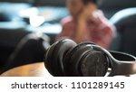 black headphones in the... | Shutterstock . vector #1101289145