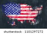 united states of america map... | Shutterstock . vector #1101297272