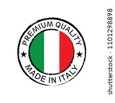 made in italy stamp design | Shutterstock .eps vector #1101298898