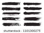 vector brushes set.grunge brush ... | Shutterstock .eps vector #1101300275