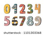 the numbers from 0 to 9 vector... | Shutterstock .eps vector #1101303368