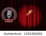stand up comedy with neon... | Shutterstock .eps vector #1101306302