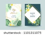 summer card design. save the... | Shutterstock .eps vector #1101311075