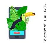 tropical paradise paper... | Shutterstock .eps vector #1101316112