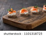 mini catering sandwiches with... | Shutterstock . vector #1101318725