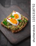 wholegrain toast bread with... | Shutterstock . vector #1101318752