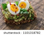 wholegrain toast bread with... | Shutterstock . vector #1101318782