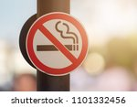 no smoking sign with green... | Shutterstock . vector #1101332456